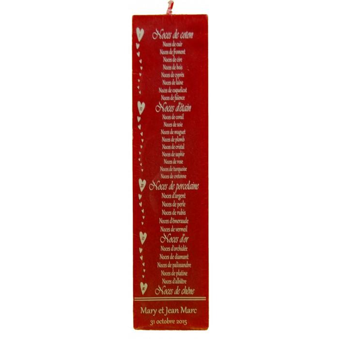 bougie anniversaires de mariage 20 ou 24 cm - Calendrier Noce De Mariage