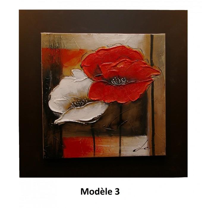 Tableau coquelicots rouge et blanc cadeaux pour toi et moi for Tableau de coquelicot en peinture