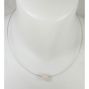 Pendentif cristal de quartz Rose