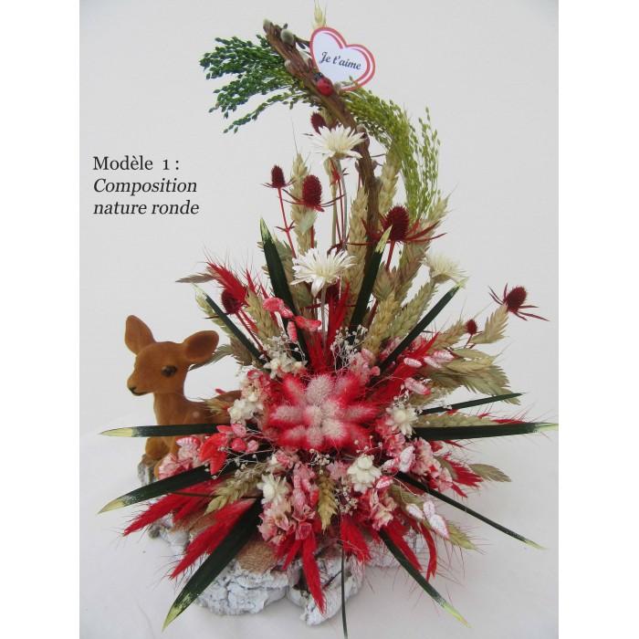 composition nature bl fleurs sech es cadeaux pour toi et moi. Black Bedroom Furniture Sets. Home Design Ideas