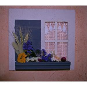 Tableau blé et fleurs