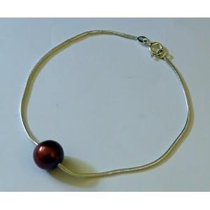 Bracelet en argent et perle d'eau douce