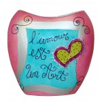 Vase L'amour est un art'