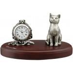 Horloge de bureau et son chat