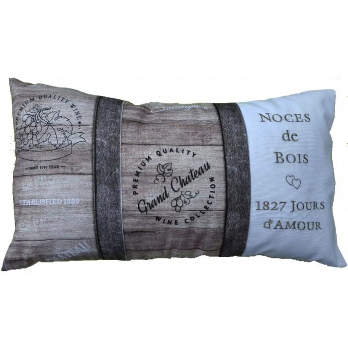 Coussin noces de bois personnaliser cadeaux pour toi et moi - Idee cadeau noce de bois ...