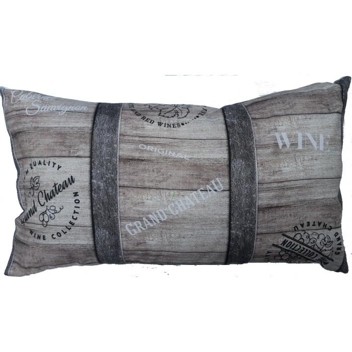 coussin noces de bois personnaliser cadeaux pour toi. Black Bedroom Furniture Sets. Home Design Ideas