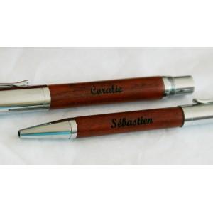 Coffret stylos Bois