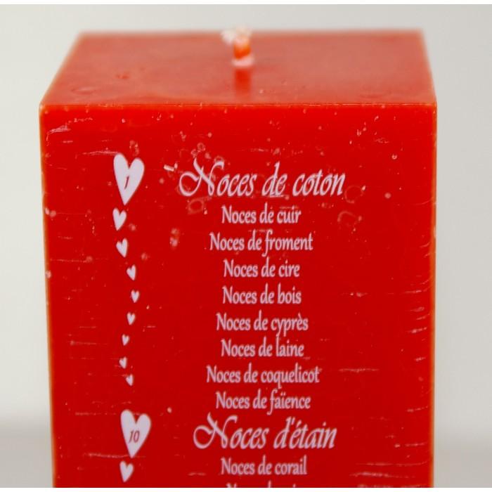 bougie anniversaires de mariage 20 ou 24 cm cadeaux pour toi et moi. Black Bedroom Furniture Sets. Home Design Ideas