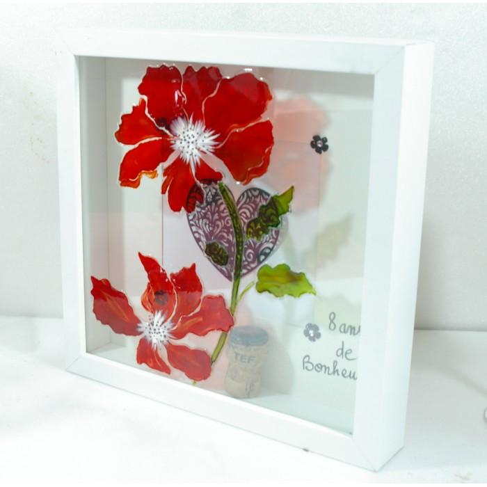 cadre vitrine coquelicot cadeaux pour toi et moi. Black Bedroom Furniture Sets. Home Design Ideas