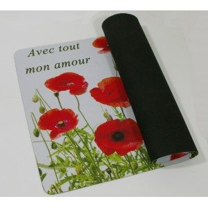 Sets de table - coquelicot