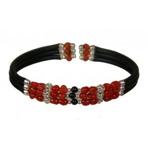 Bracelet 3 rangs en corail