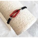 Bracelet mixte corail avec perles argent