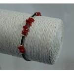 Bracelet corail et hématite