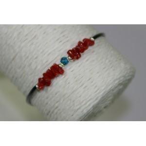 Bracelet turquoise et corail
