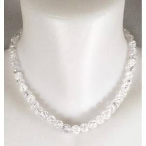 Collier de perles en cristal de roche