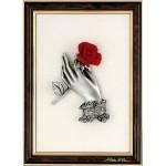 Rose en étain (tableau)
