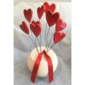 Coeurs en bouquet (à message)