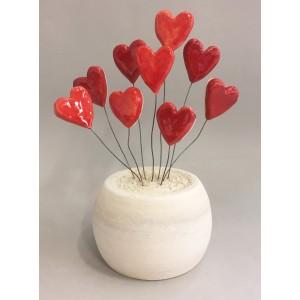 Coeurs en bouquet
