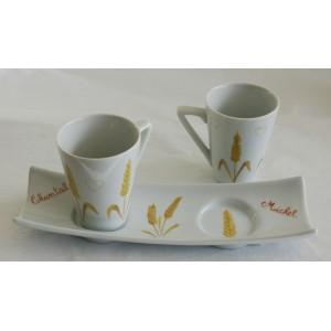 Café en duo, decor blé