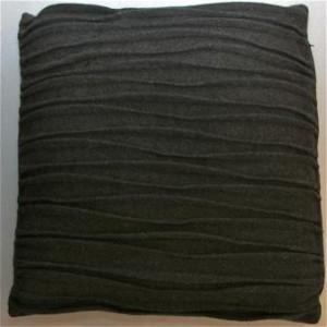 Coussin en laine recyclée anthracite