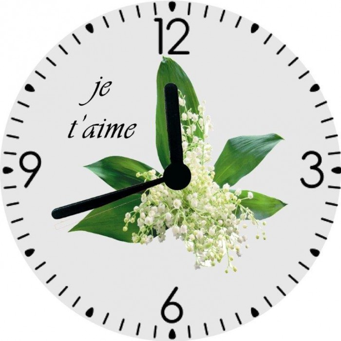 horloge muguet cadeaux pour toi et moi. Black Bedroom Furniture Sets. Home Design Ideas