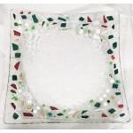 Petite Assiette carrée aux couleurs de Noël
