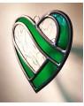 Coeur enlacé en  vitrail (4 couleurs)
