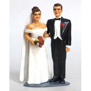 Figurine en plomb - les Mariés