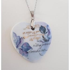 Bijou Coeur Fleur Bleue