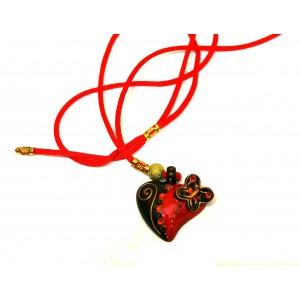 Pendentif Coeur papillon